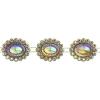 Plastic Trimming-stellina 5Yds 28x23mm Sun Aurora Borealis